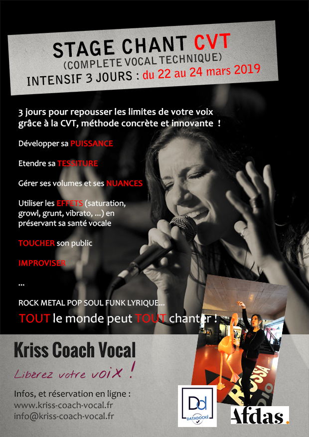 "stage cvt "" jours complete vocal technique tout chanter"